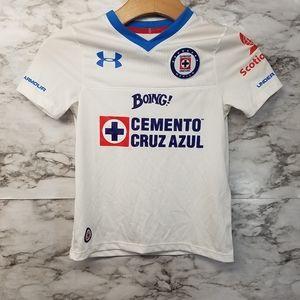 Under Armour Boys XS Cruz Azul Soccer Jersey New